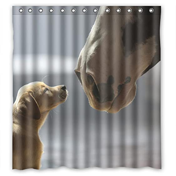 Lovely Puppy Shower Curtain Measure 66quot