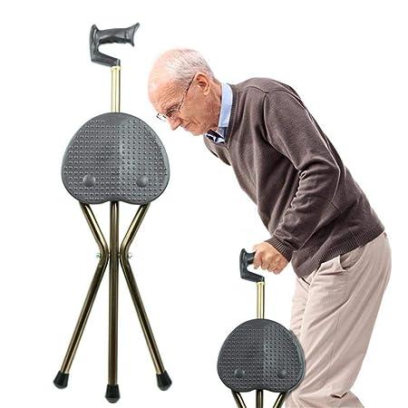 Hyl Andador para Ancianos CrutchesStick 2-en-1 Plegable ...