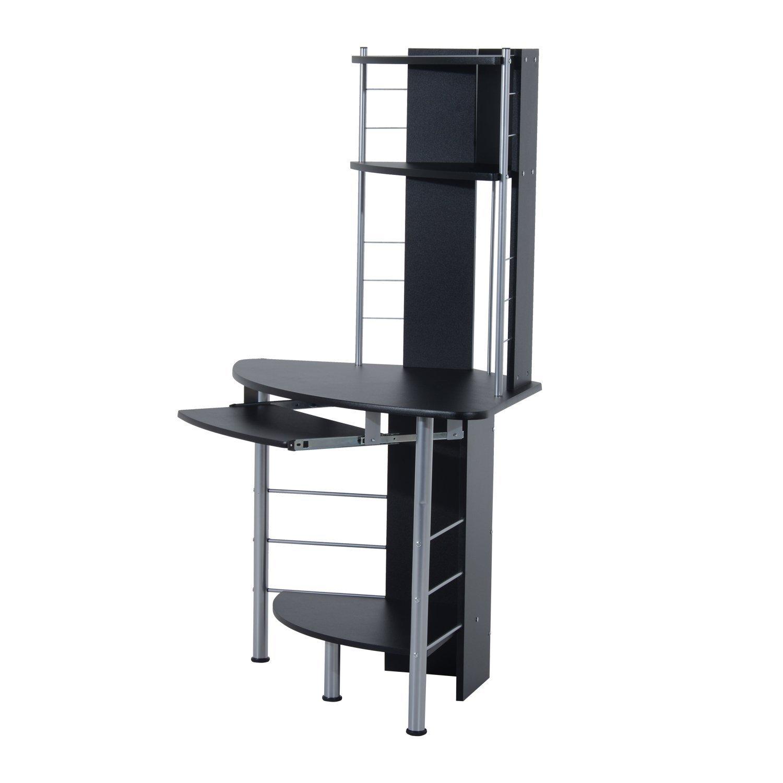 Corner computer desk tower - Amazon Com Homcom 45 Arch Tower Corner Computer Desk Black Kitchen Dining