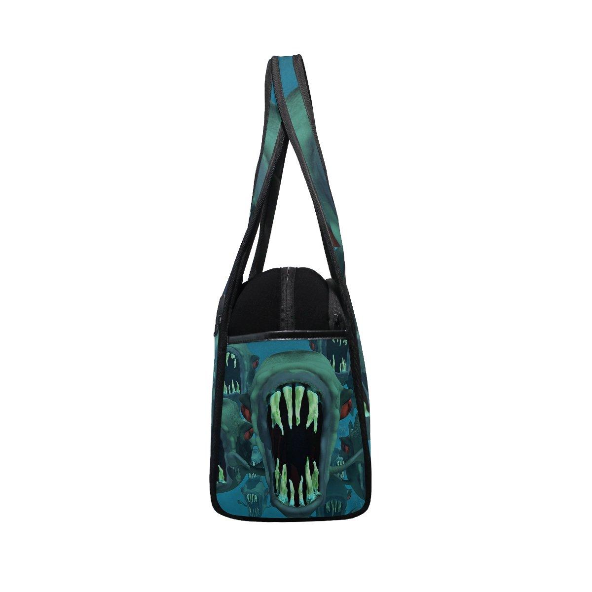 AHOMY Sports Gym Bag Piranha Terror Duffel Bag Travel Shoulder Bag