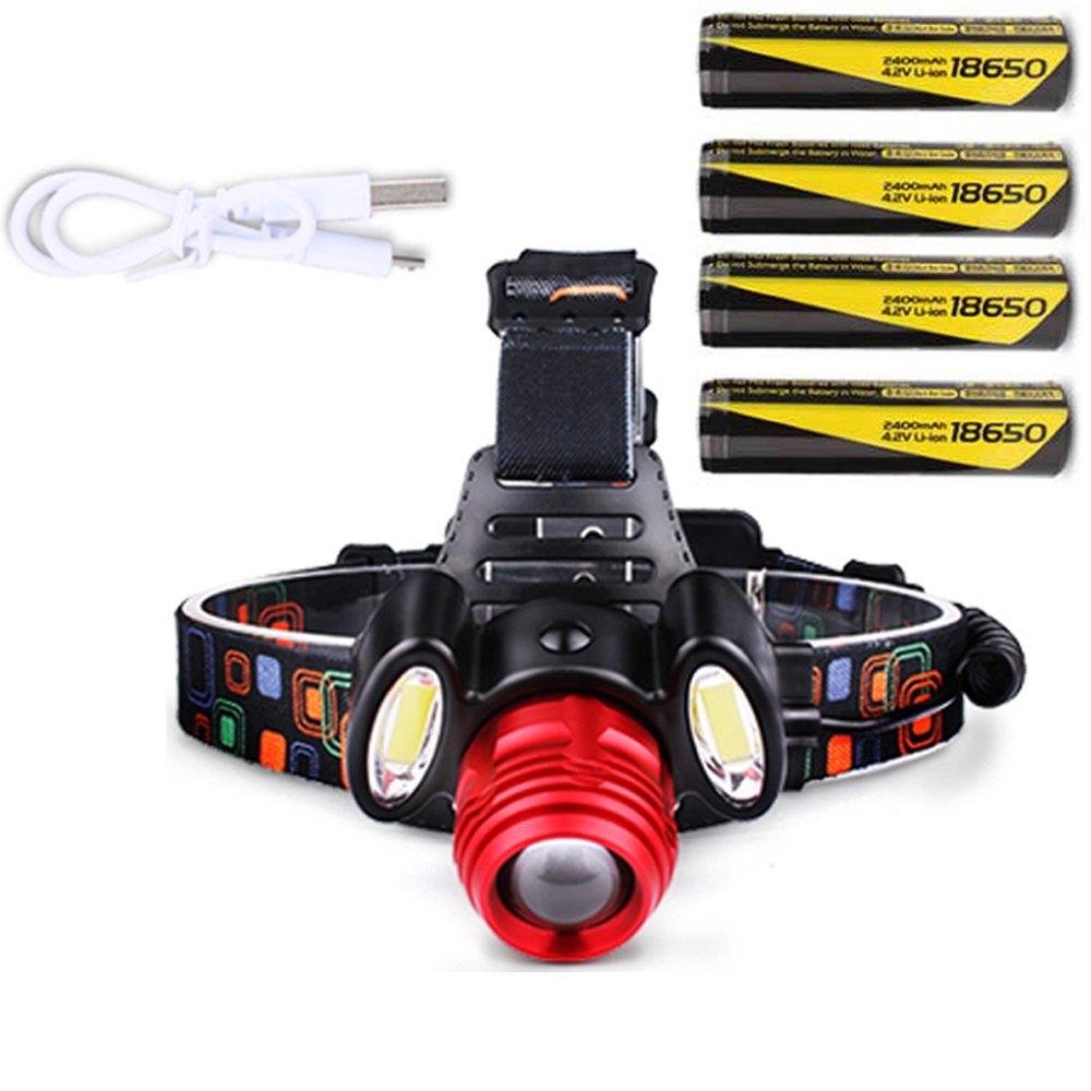 TLMYDD LED-Licht Wiederaufladbare Kopf-Taschenlampe Long-Range-Camping Nachtfischen Outdoor-Familie Suchscheinwerfer Taschenlampe (Ausgabe : B)