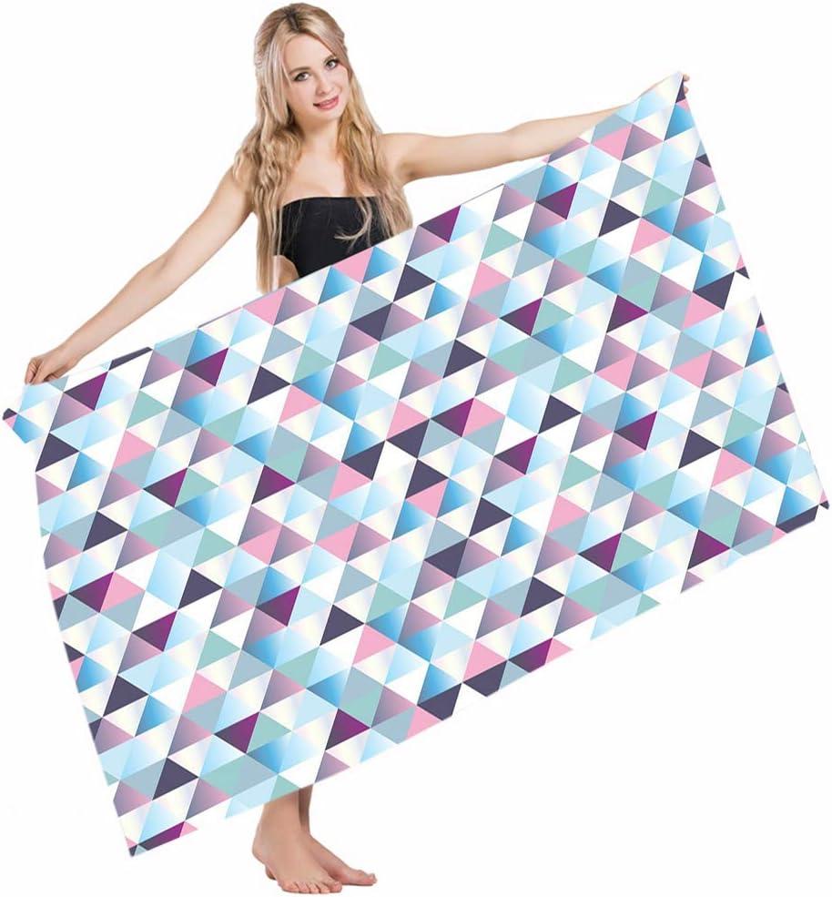 Amazon Com Mugod Beach Towel Bath Towels Geometric Diamond Shapes Triangle Abstract Geomatic Fashion Stylish Yoga Golf Swim Hair Hand Towel For Men Women Girl Kids Baby 64x32 Inch Home Kitchen