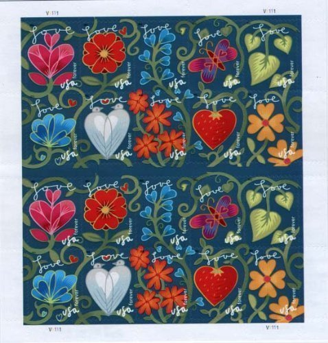 Garden of Love Sheet of 20 x Forever US Postage - Days Usps First Class