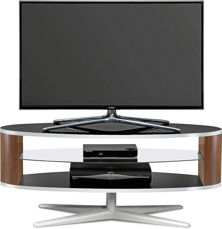 MDA Designs Orbit 1100BWA soporte de TV negro brillante con lados ...