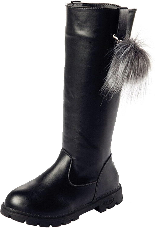 DADAWEN Girl's Fashion Zipper Knee High