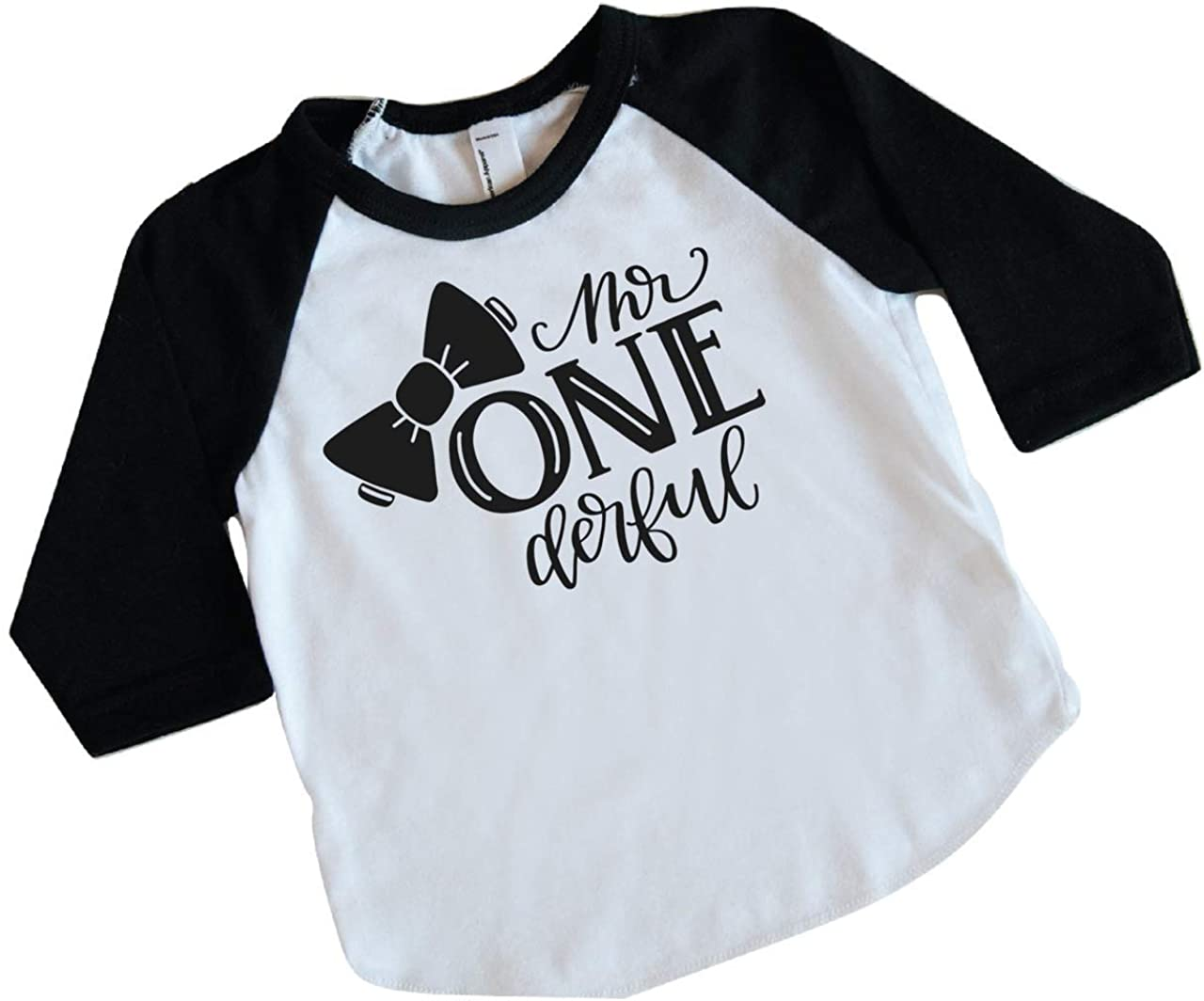 Onederful 1st First Birthday Toddler T-Shirt Amdesco Im ONE Derful
