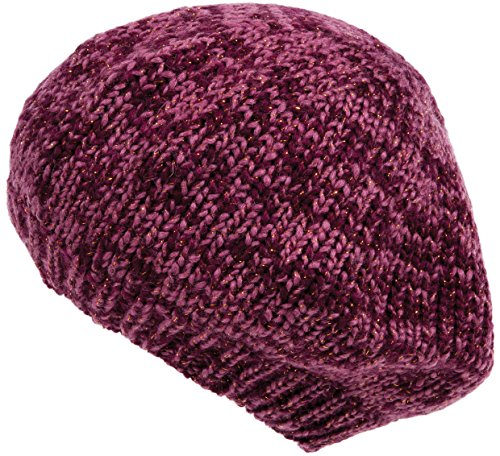 Nirvanna Designs Lurex Beret Hat with Fleece, Pink/Gold