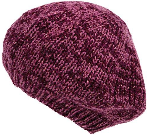 Nirvanna Designs Lurex Beret Hat with Fleece, Pink/Gold