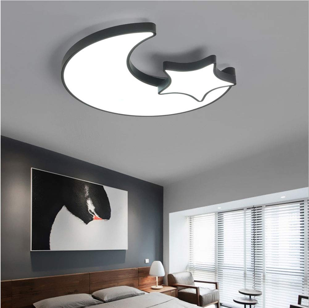 導かれた子供部屋の天井のシャンデリアランプ、現代のミニマリストの家の研究の天井灯の白黒照明,threecolordimming  threecolordimming B07TRHGNX6