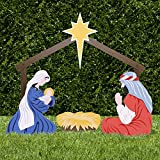Outdoor Nativity Scene - Holy Family