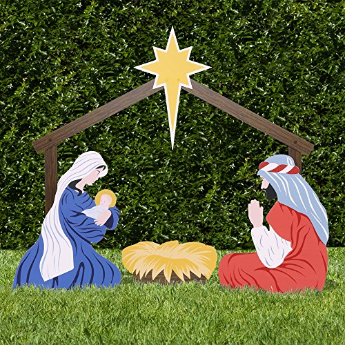 Outdoor Lighted Manger Set - 3