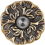 Waterwood Solid Brass Maya Doorbell in Antique Brass