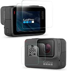 Simpeak Protector de Pantalla GoPro Hero 6 Hero 5 [2-Pack], Cristal Templado GoPro Hero 5/Hero 6 con 9H Screen Protector Películas Protectoras