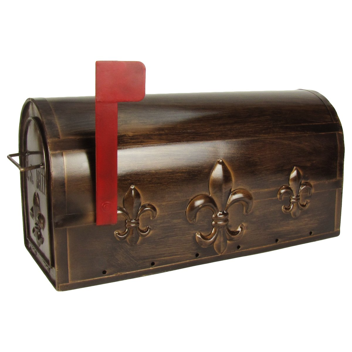 Large Package Metal Fleur De Lis US Mailbox