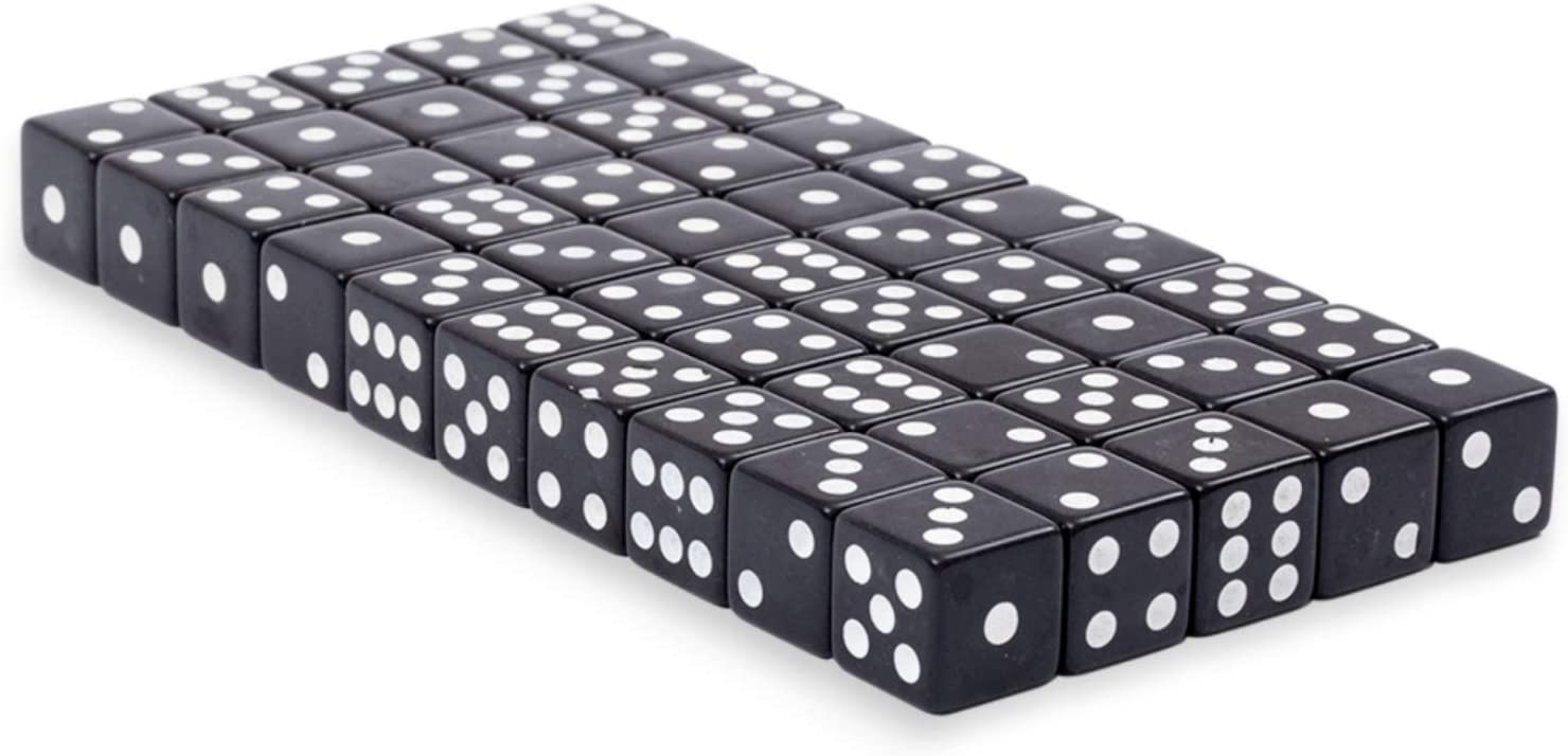 10Pcs Six Sided Square Opaque 10mm D6 Dice Portable Table Game ROI3R