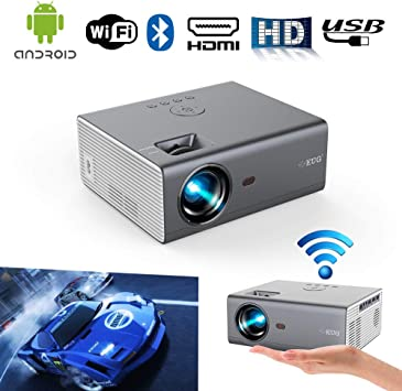 Wifi portátil Bluetooth Proyector HD Inalámbrico Smart Android LED ...