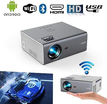 2019 Portátil Inalámbrico Bluetooth HD Proyectores Soporta Full HD ...