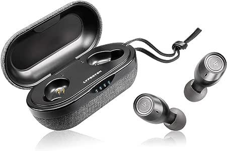 Lypertek Tevi TWS-001-B IPX7 Waterproof Bluetooth True Wireless In-Ear Earbuds with Charging Case, Black,One Size