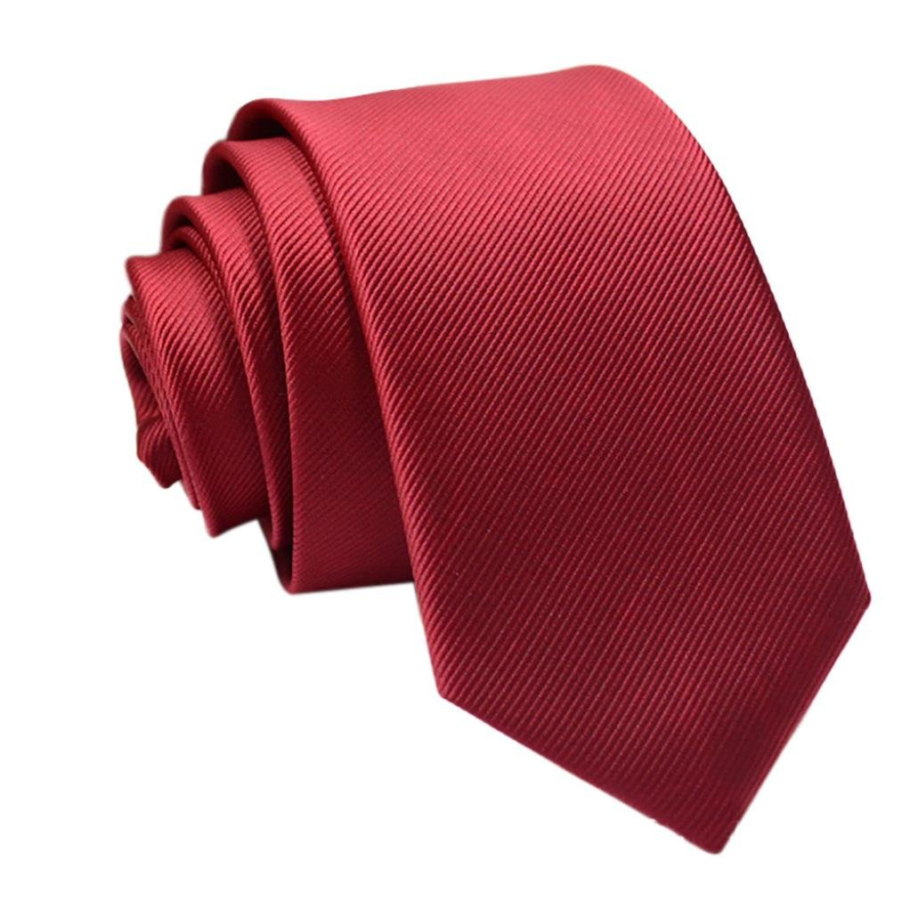 Start Mens Solid Necktie Business Suit Slim Neckties Casual Wedding Ties (Fine Striped D)
