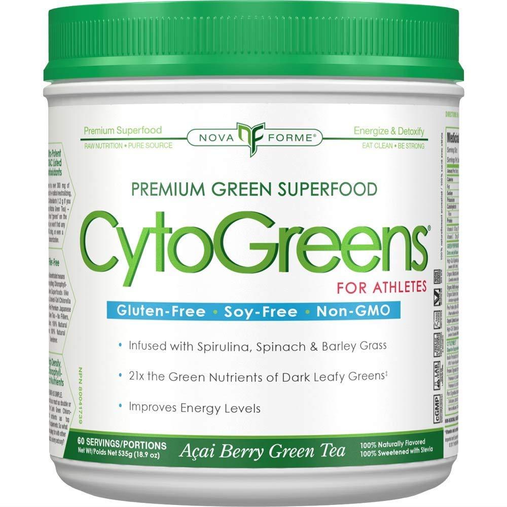 Nutra Forme CytoGreens For Athletes Acai Berry Green Tea - 18.9 oz