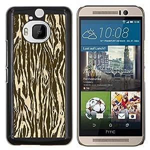 Caucho caso de Shell duro de la cubierta de accesorios de protección BY RAYDREAMMM - HTC One M9Plus M9+ M9 Plus - Zebra Madera Animal Patrón de Brown