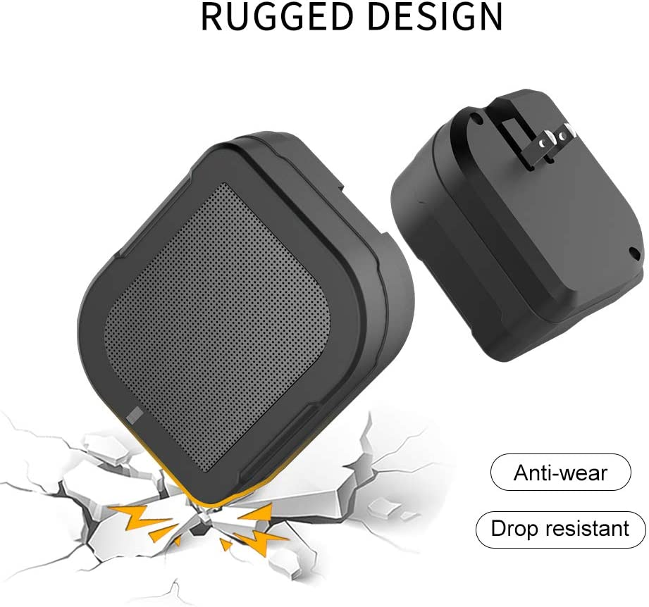 Black-6000 40-Hour Playtime 5W Speaker Driver for Deep Bass Stereo Sound Roiskin Wireless Portable Mini Bluetooth Speaker with 6000mAh Power Bank and Dual USB Ports Wall Charger