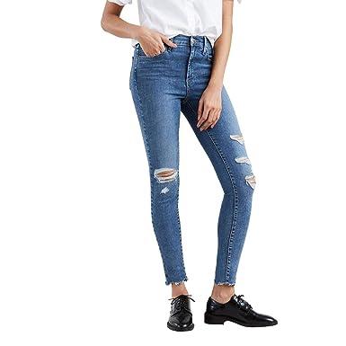 7d8d7689ac783 Calça Jeans Levis Feminina 720 High Rise Super Skinny Azul Médio ...