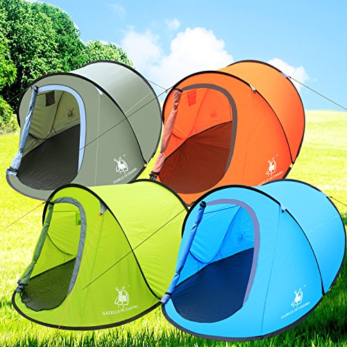 Large Pop Up Camping Hiking Tent Automatic Instant Setup Easy Fold back Shelter