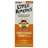 Little Remedies Honey Cough Syrup | 100% Natural | Ages 12 Months+ | 4 FL OZ