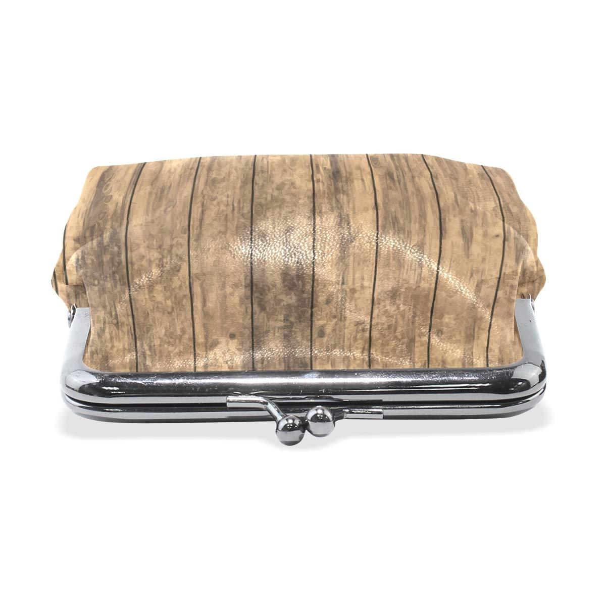 Women Wallet Purse Vintage Old Wooden Floor Clutch Bag Leather