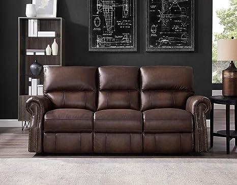 Amazon.com: Hydeline Raymond - Sofá reclinable 100% piel ...