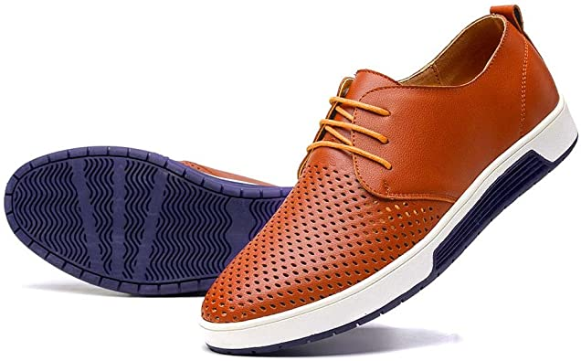 Breathable Dress Shoes Loafers Lace-up