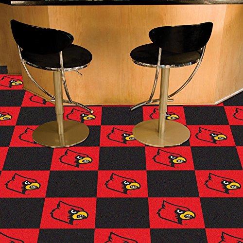 Louisville Cardinals NCAA Team Logo Carpet Tiles by Fanmats