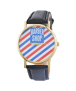 Loweryeah Barber Shop Male and Female Quartz Hand Watch 24cm