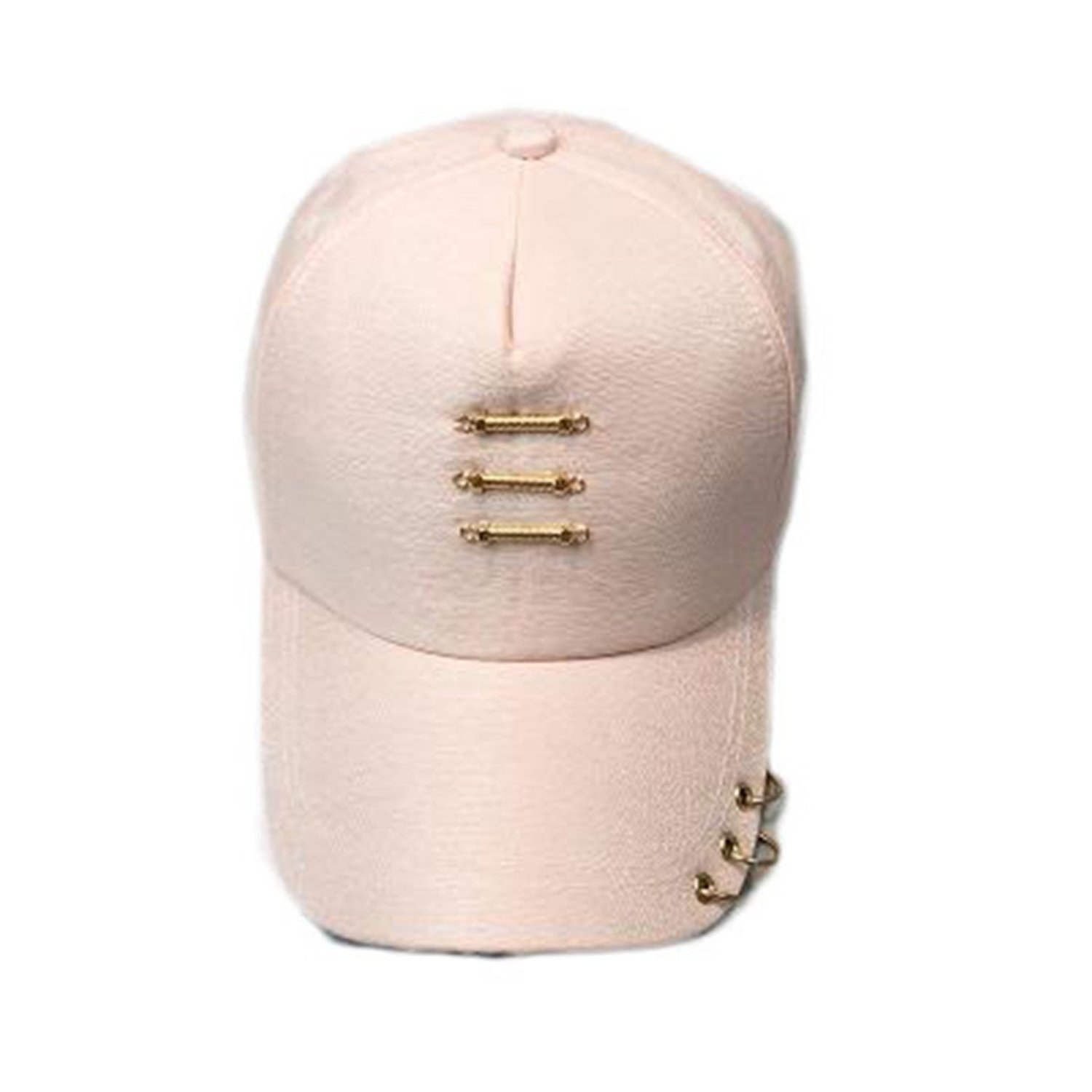New Iron Ring Cap Women Baseball Cap with Rings Gold Color Hip Hop Hats for Women Men Dad Hat Kpop