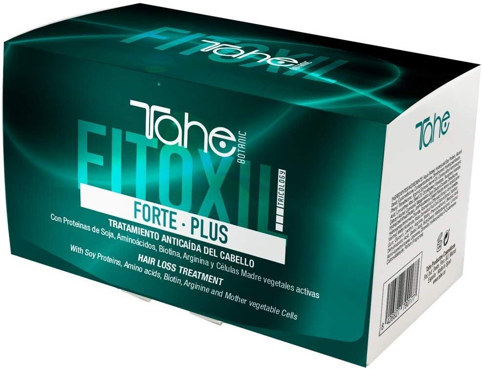 Tahe Fitoxil Forte Plus Tratamiento Anticaída del Cabello para Cabellos Castigados con Proteínas de Soja, Aminoácidos, Biotina, Arginina y Células Madre Vegetales Activas, 6 x 10 ml