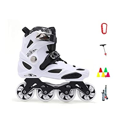 Sljj Performance Inline Skates for Adult, Women's Fitness Outdoor Roller Skates Black and White (Color : E1, Size : 39 EU): Home & Kitchen
