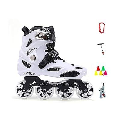 Sljj Performance Inline Skates for Adult, Women's Fitness Outdoor Roller Skates Black and White (Color : E1, Size : 42 EU): Home & Kitchen