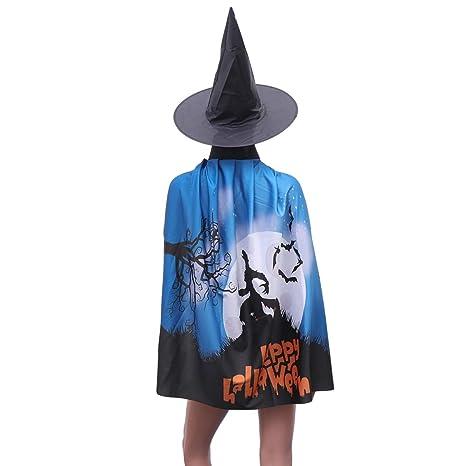 Amosfun 2 Piezas Traje de Halloween Capa y Sombrero Fantasma Bruja ...