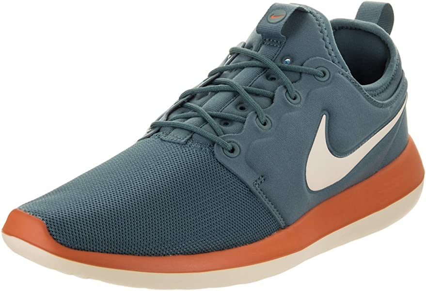 newest c96bb c4ee5 Nike Mens Mens Roshe Two Running Shoes Low Top Lace Up Trail, Blue, Size