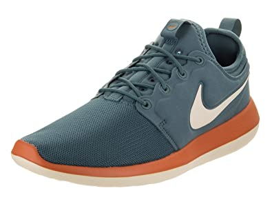 0bf0d3375c7af Nike Mens Mens Roshe Two Running Shoes Low Top Lace Up Trail, Blue, Size  11.0