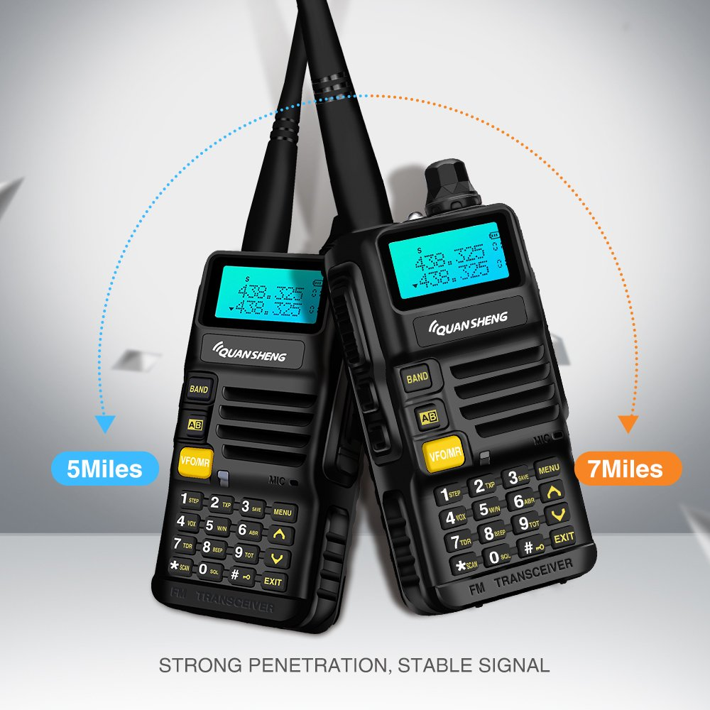 Quansheng UV-R50 Rechargeable Dual Band Two-Way Radios with Earpiece Long Range Walkie Talkies (136-174MHz VHF & 400-520MHz UHF) Ham Amateur Radio Li-ion Battery and Charger Included by QUANSHENG (Image #5)