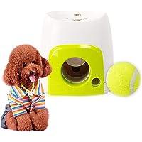 Zaote Automatische Ball Launcher Hundespielzeug Tennisball Wurfmaschine für Hunde Timing Tennisball Startmaschine Interaktives Spielzeug für Haustiere und Besitzer