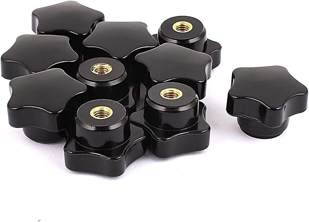 Plastic M4//M5//M6//M8 female thread seven star shaped head clamping nuts knob ECU
