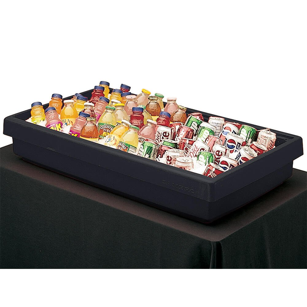 Cambro BUF48110 Table Top Food Bar, 41-13/16''L X 24''W X 7'' H, 3-Pan Capacity, Black, NSF