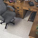 Deflecto CM84233 Checkered Chairmat, Med. Pile, 45''x53'', Wide Lip 25''x12'', CL