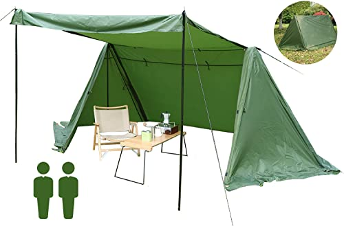 2 Person Waterproof Camping Tent – Beach Tent Sun Shelter Family Backpacking Tents Easy Set Up for Hiking Mountaineering Travel Outdoor