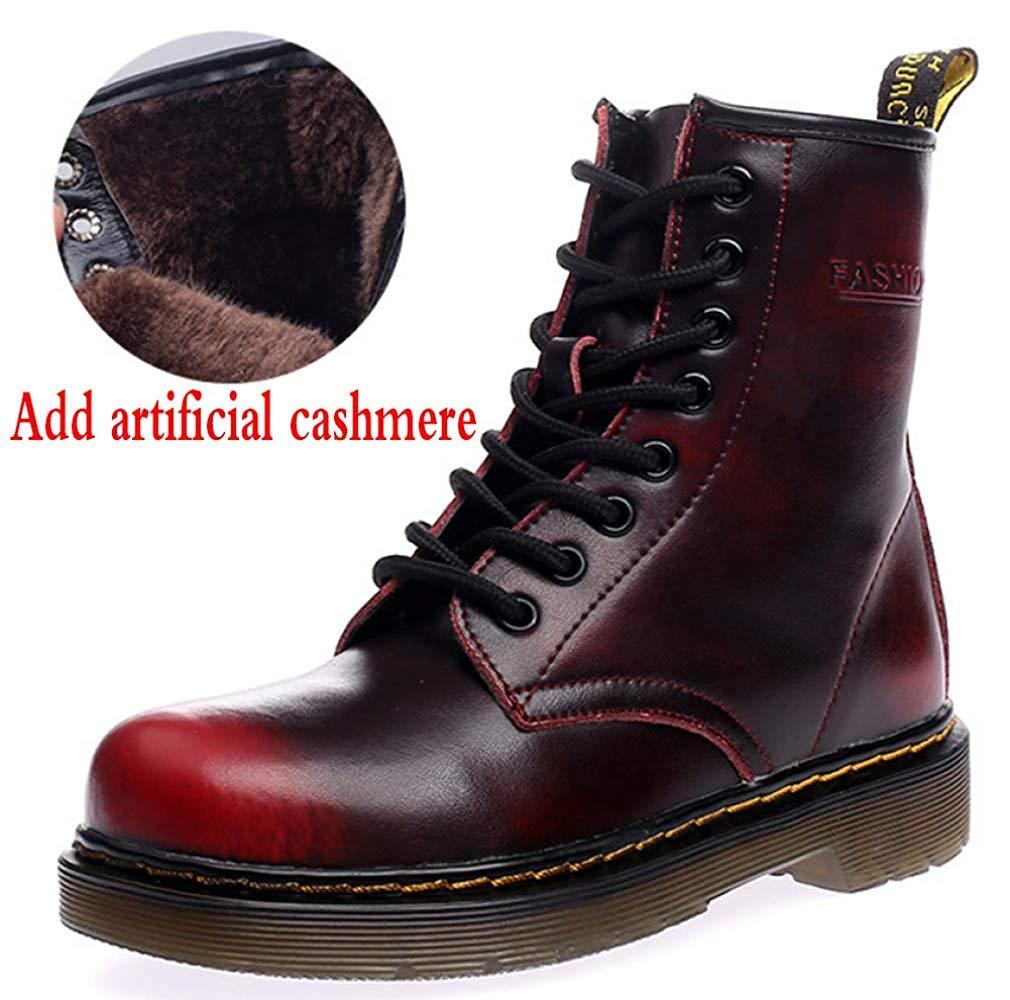 Männer Und Frauen Knöchel Knöchel Knöchel Martin Stiefel Warm Plus Baumwolle Schneeschuhe Liebhaber Schuhe (Farbe   11, Größe   46EU) ad0b09