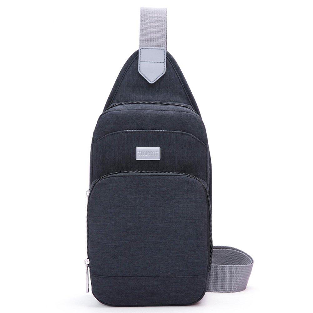 Tinyat T607Sling Bag Chest Pack Casual Crossbody Travel Shoulder Bag (Black/606)