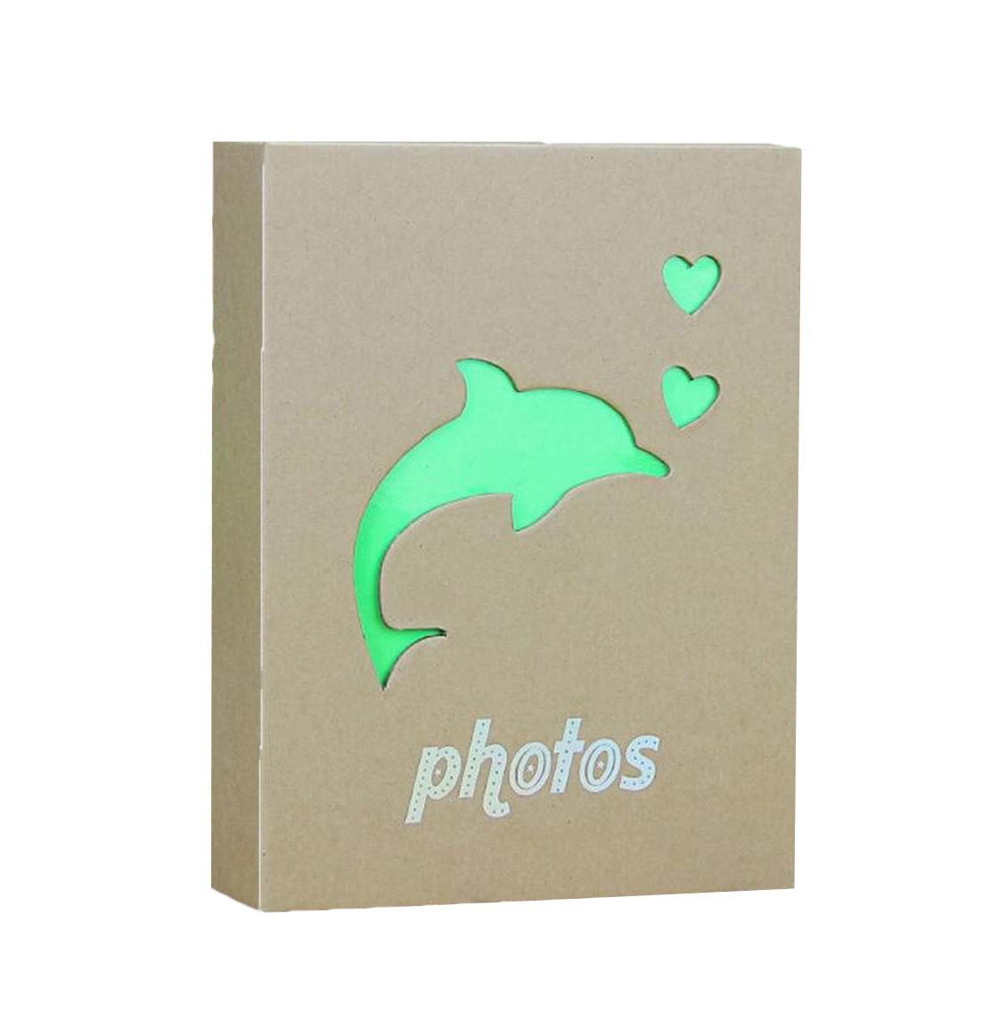 Wei Long Beautiful Photo Album Hold 200 Pockets, 3.5x5 Photos, (Elephant) 3.5x5 Photos